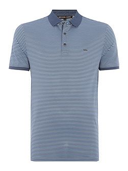Regular fit feeder stripe short sleeve polo