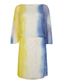 Biba Beaded dip dye dress