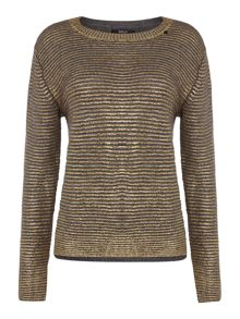 Replay Wool mohair mesh round neck