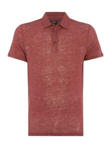 Michael Kors Regular fit fan print short sleeve polo shirt
