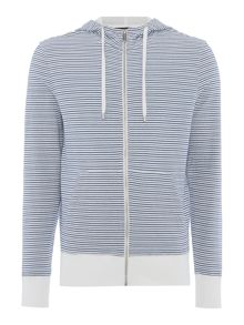 Michael Kors Regular fit stripe zip through hooded sweat