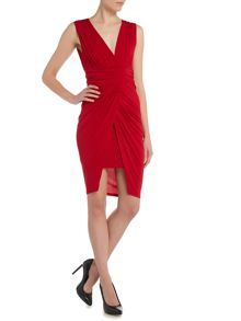 Wal-G V Neck Sleeveless Wrap Dress