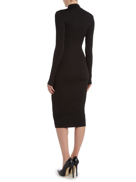 Wal-G Long Sleeved High Neck Bodycon Mini Dress