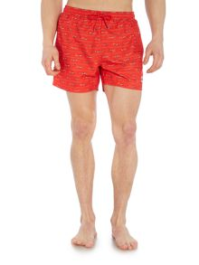 Hugo Boss Piranha snorkler print swim shorts