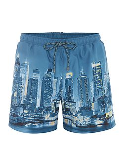 Springfish new york print swim shorts