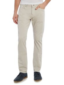 Regular fit cotton stretch chinos
