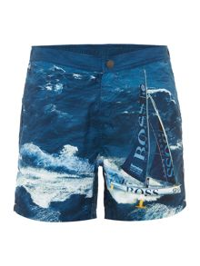 Hugo Boss Blackfish photo print swim shorts