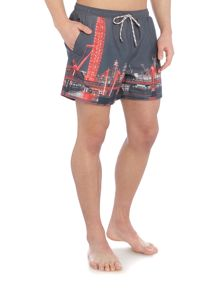 Hugo Boss Springfish london print swim short
