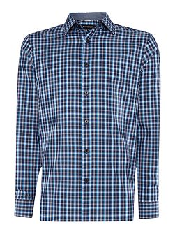 Tailored fit ward check long sleeve shirt