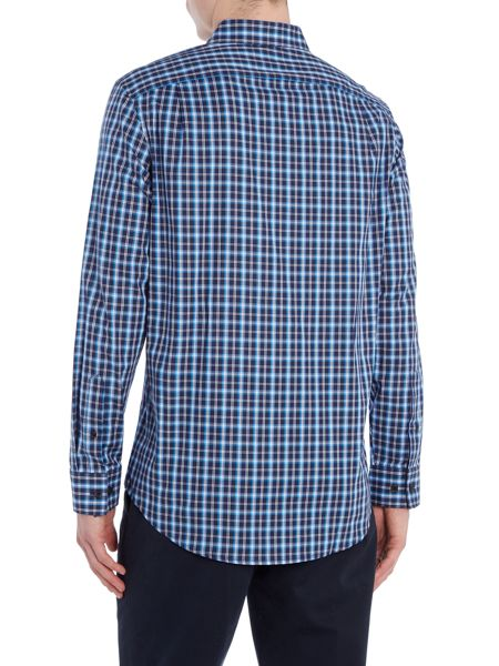 Michael Kors Tailored fit ward check long sleeve shirt