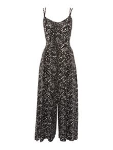 Therapy Simone Scratchy Print Culotte Jumpsuit