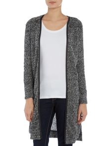 Wal-G Long Sleeved Cardigan with Shoulder Zip