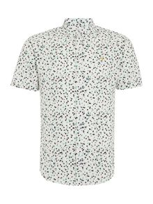 Farah Camble regular fit circle print shirt