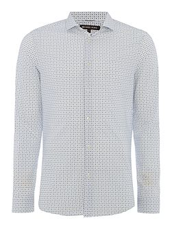 Lamar slim fit geo print long sleeve shirt
