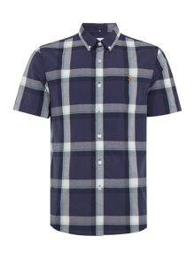 Farah Herne slim fit short sleeve check shirt
