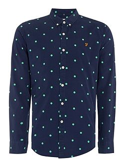 Selsdon slim fit spot print shirt