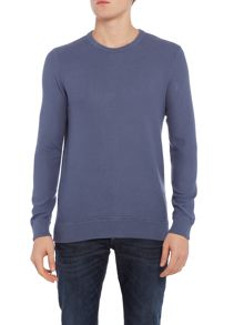 Michael Kors Regular fit pique stitch crew neck jumper