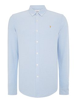 Men's Farah Endell slim fit oxford dobby shirt