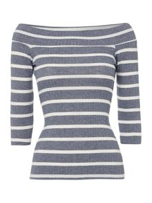Therapy Bailey Bardot Stripe Top