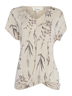 Linea Botanical illustration jersey twist tee