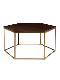 Cleo hexagonal coffee table