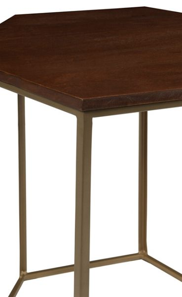 Living by Christiane Lemieux Cleo hexagonal side table