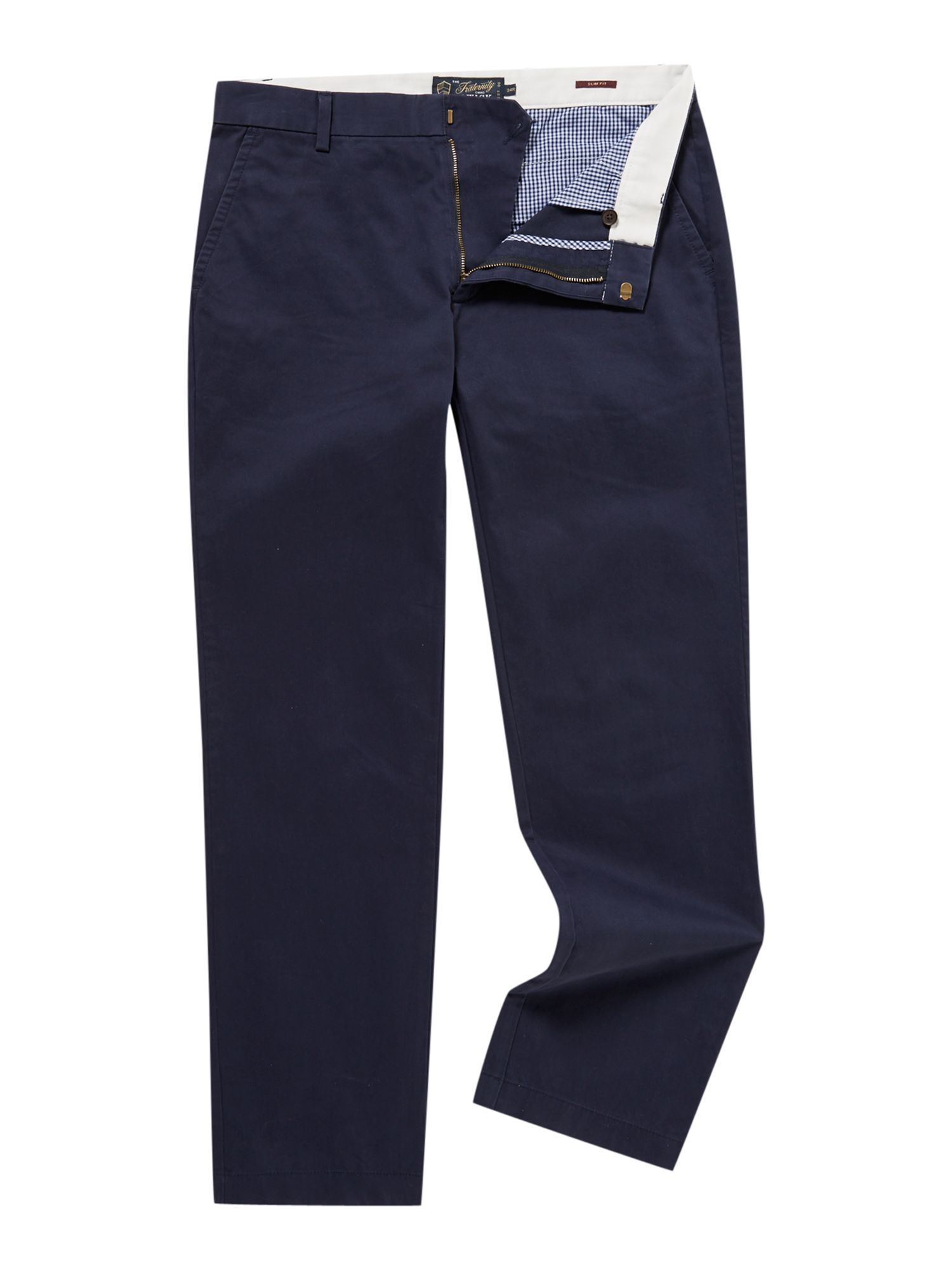 Howick Men's Howick Slim Fit Fraternity Casual Chino, Navy