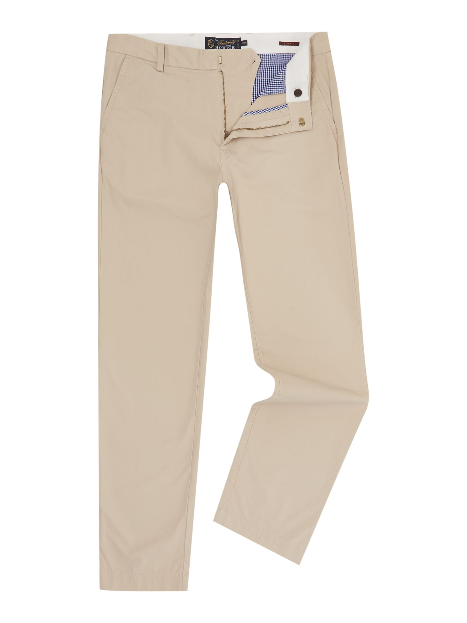Howick Men's Howick Slim Fit Fraternity Casual Chino, Clay