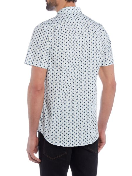 PS By Paul Smith Regular fit mini palm print shirt sleeve shirt
