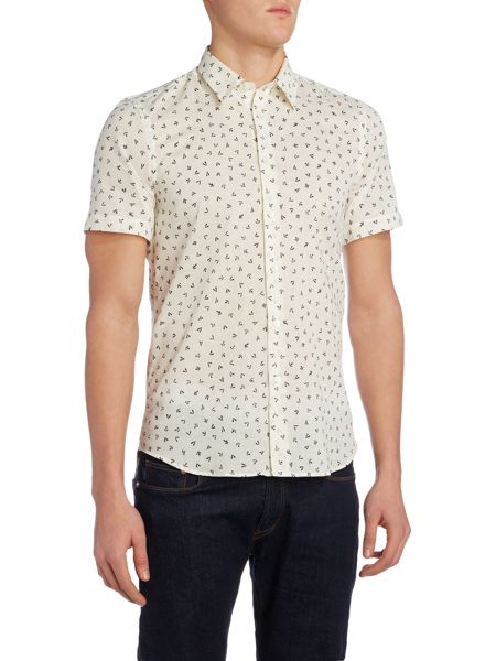 PS By Paul Smith Regular fit arrow print short sleeve shirt