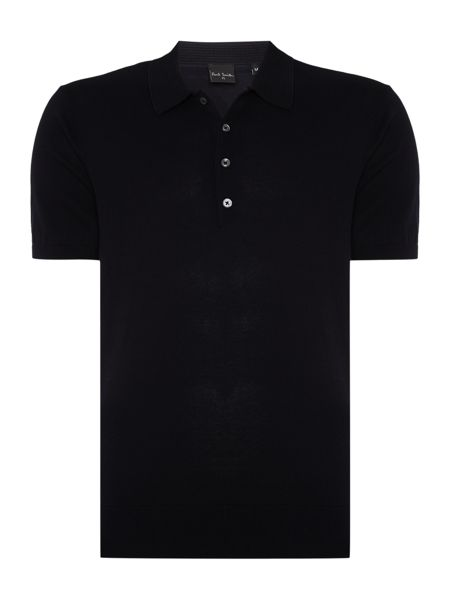 PS By Paul Smith Regular fit plain knit short sleeve polo