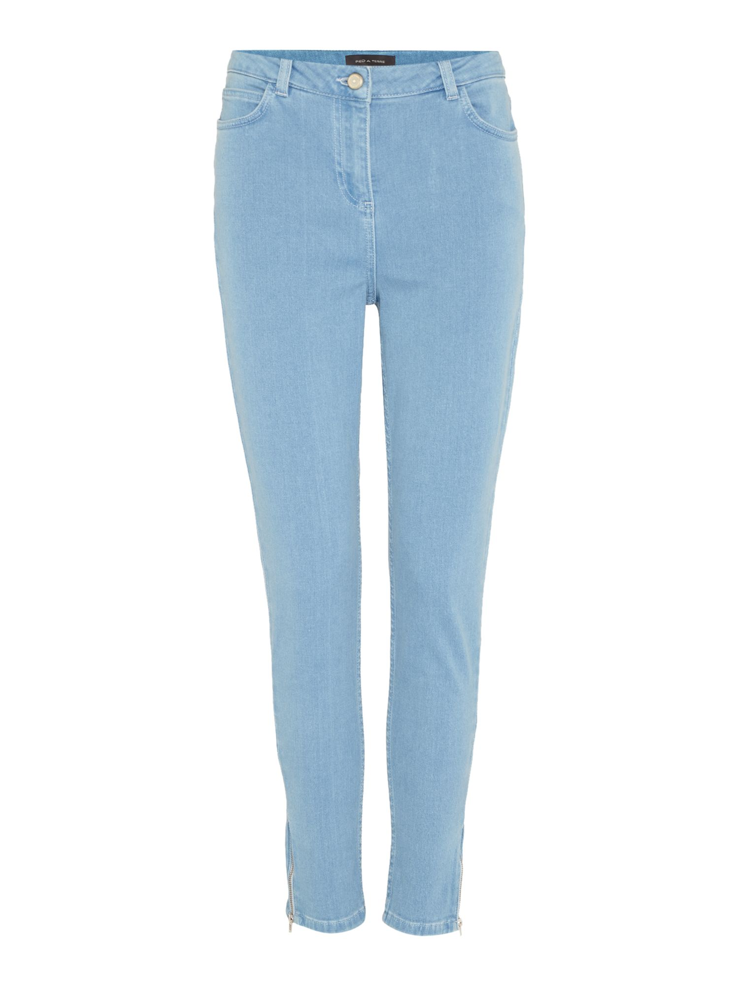 Pied a Terre Pied a Terre Skinny jeans with ankle zip detail, Denim