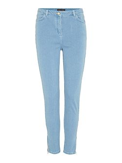 Skinny jeans with ankle zip detail
