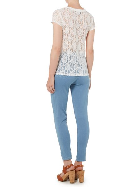 Pied a Terre Skinny jeans with ankle zip detail