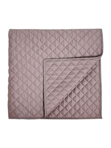 Linea Sateen quilted topper, heather