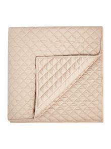 Linea Sateen quilted topper, nude