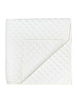 Sateen quilted bedspread, ivory