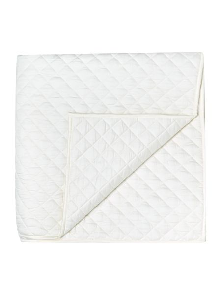 Linea Sateen quilted bedspread, ivory