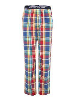 Checked pyjama trouser