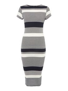 Therapy Violet Varigated Stripe Tube Dress