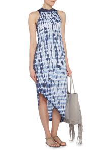 Label Lab Shibori halter jersey wrap dress