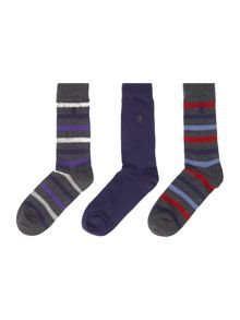 Pringle Stripe Dress Socks