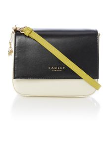 Radley Floral street black small flap over multiway bag