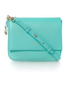 Radley Floral street Light Blue small flap multiway bag
