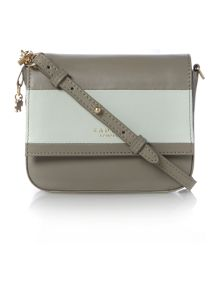 Radley Floral St colour-block grey small crossbody bag