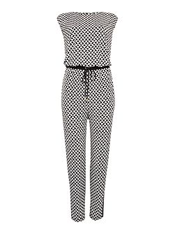 Mini geo print jumpsuit