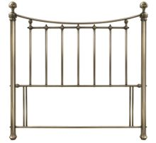 Linea Isabella 150cm bedframe in antique brass