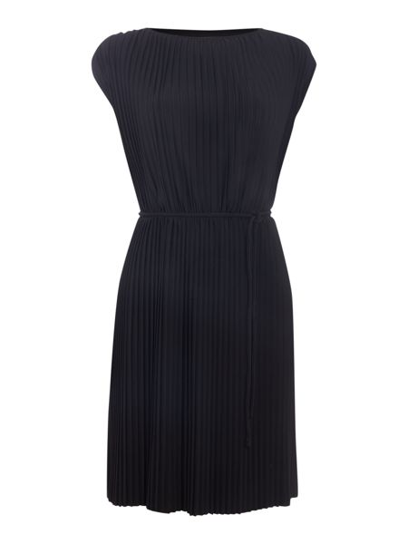 Biba Fully pleated tie waist dress