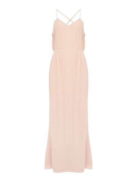 Elise Ryan Sleeveless Maxi Dress With Lace Insert Back