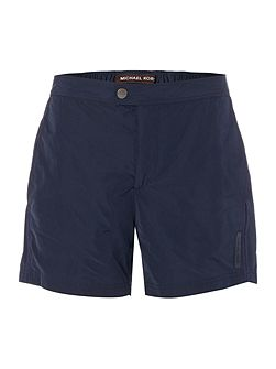 Contrast piping logo swim shorts